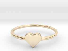 Knuckle Ring with heart, subtle and chic. in 14K Yellow Gold