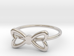 Knuckle Bow Ring, subtle and chic. in Platinum