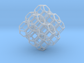 Truncated Octahedra in Smooth Fine Detail Plastic