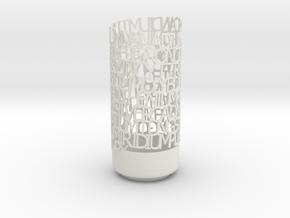 Transition Elements Vase in White Natural Versatile Plastic