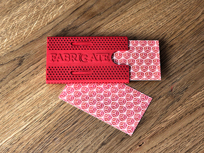 Business card case -Fabrigate in Red Processed Versatile Plastic