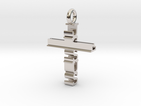 Jesus Cross Pendant in Platinum