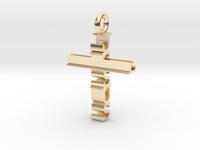 Jesus Cross Pendant in 14K Yellow Gold