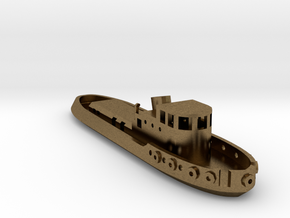 005B 1/350 Tug Boat in Natural Bronze