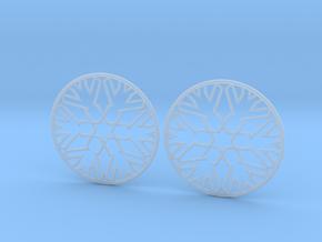 Snowflake Hoop Earrings 40mm in Smooth Fine Detail Plastic