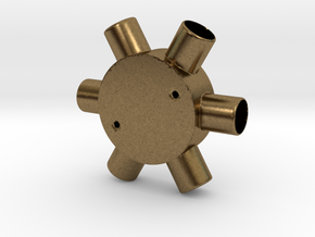 Six Way Junction box in Natural Bronze