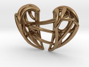 Healing Heart Pendant in Natural Brass