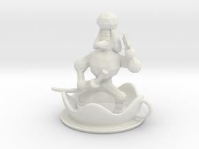 Teacup Poodle Ninja in White Natural Versatile Plastic