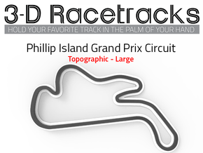 Phillip Island Grand Prix Circuit | Large in Full Color Sandstone