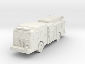 1/87 scale Fire Pump Truck in White Strong & Flexible