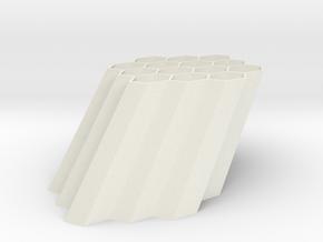 Wall Mount Hex Pen Holder in White Natural Versatile Plastic