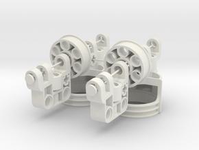 Portal axle set in White Natural Versatile Plastic