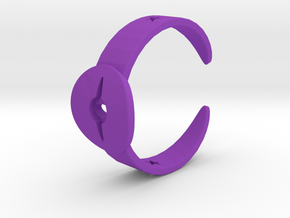 Ring11 in Purple Processed Versatile Plastic
