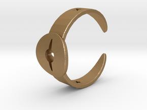 Ring11 in Matte Gold Steel
