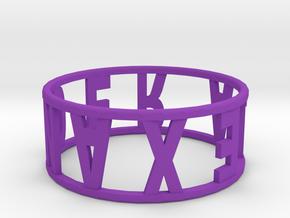 Ring13 in Purple Processed Versatile Plastic