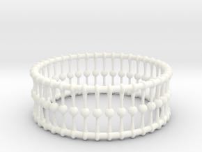 Bracelet Cones Balls And Rings 3 In Dia in White Processed Versatile Plastic