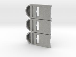 3er Testset Doppeladapter in Metallic Plastic