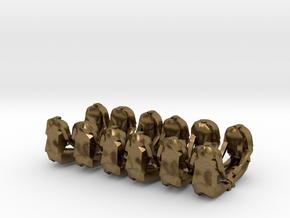 28mm seated halftrack crew in Natural Bronze