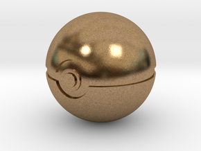 Pokeball 4cm in diameter. in Natural Brass