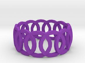 Ring14(18mm) in Purple Processed Versatile Plastic