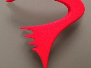 Pinarello bicycle front logo in Red Processed Versatile Plastic