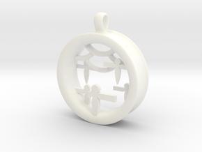 Shikigami Standing Paper Bird Pendant in White Processed Versatile Plastic