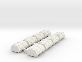 Cargo Pods 3 in White Natural Versatile Plastic
