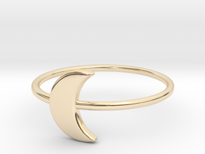 Moon Midi Ring 16mm inner diameter by CURIO in 14K Yellow Gold