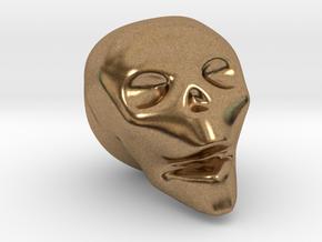 Skull Mini in Natural Brass
