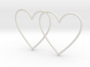 Hearts together in White Natural Versatile Plastic