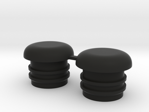 Bugaboo Front Wheel Caps in Black Natural Versatile Plastic