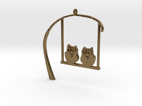 Owl Pendant in Natural Bronze