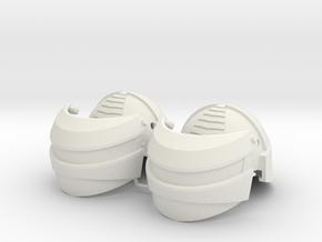 1:6 Scale Reptilian Helmet X2 in White Natural Versatile Plastic