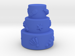 3 stair cake with shells in Blue Strong & Flexible Polished