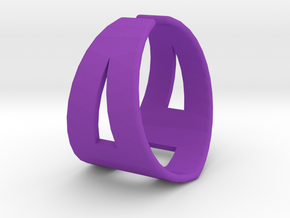 Ring21(18mm) in Purple Processed Versatile Plastic