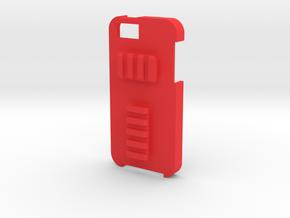 iPhone 5 Picatinny Case (Back Rails) in Red Processed Versatile Plastic