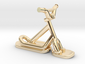 Snowscoot 2,8cm Sans Logo Aps in 14K Yellow Gold