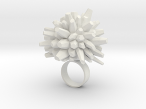 Icy Ring in White Natural Versatile Plastic