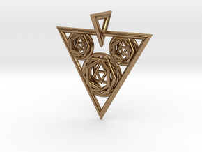 Sacred Geometry Pendant in Natural Brass