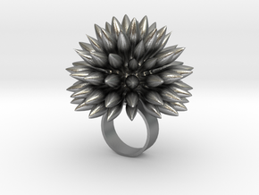 Dahly Ring in Raw Silver