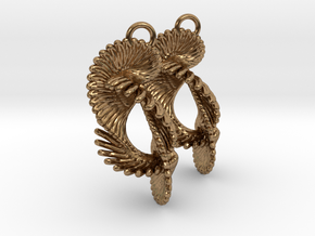 Coil 80 Earrings in Natural Brass