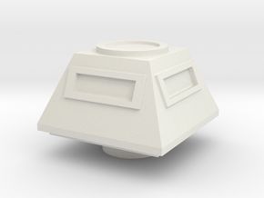 Turret Command Europe #1 (n-scale) in White Natural Versatile Plastic