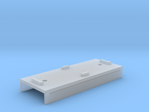 Base Carriage Europe #2 (n-scale) in Smooth Fine Detail Plastic