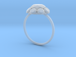 Diamond Ring US Size 8 UK Size Q in Smooth Fine Detail Plastic