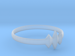 Elleve Ring US Size 8 5/8 UK Size R in Smooth Fine Detail Plastic