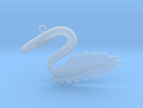 Lamprey pandant in Smooth Fine Detail Plastic