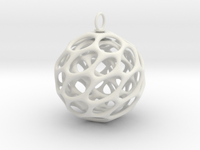 Christmas Bauble 5 in White Strong & Flexible