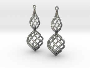 Posh Big Earrings 50mm in Natural Silver