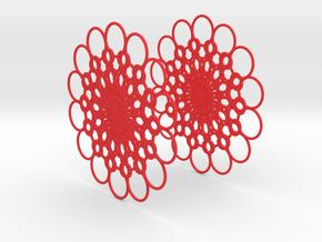 Flowerish 10 Big Hoop Earrings 60mm in Red Processed Versatile Plastic