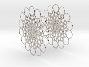 Flowerish 10 Big Hoop Earrings 60mm in Platinum